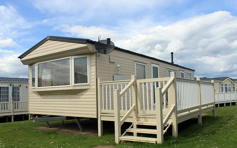 Mobile Home with Railing
